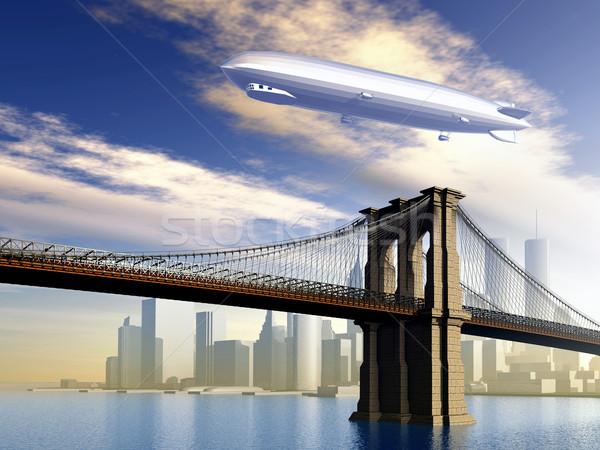 Airship over Manhattan Stock photo © MIRO3D