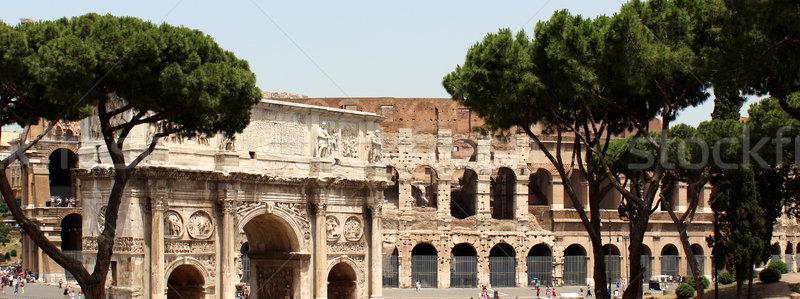 アーチ コロシアム ローマ イタリア 夏 旅行 ストックフォト © MIRO3D