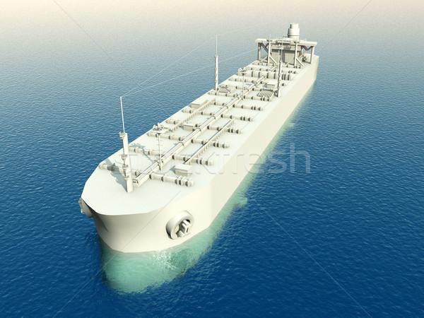 Számítógép generált 3d illusztráció tenger hajó szállítás Stock fotó © MIRO3D