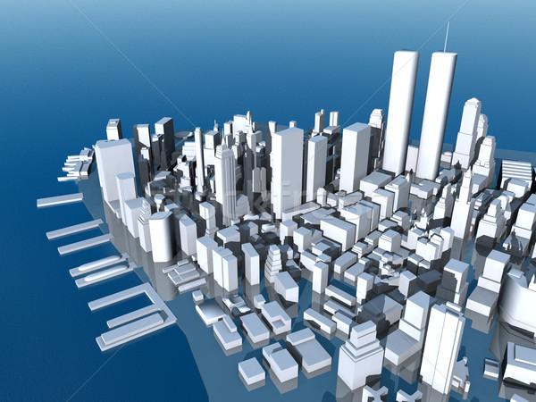 マンハッタン コンピュータ 生成された 3次元の図 ストックフォト © MIRO3D