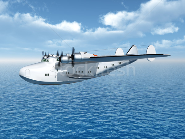 Flying Boat Airliner Stock photo © MIRO3D