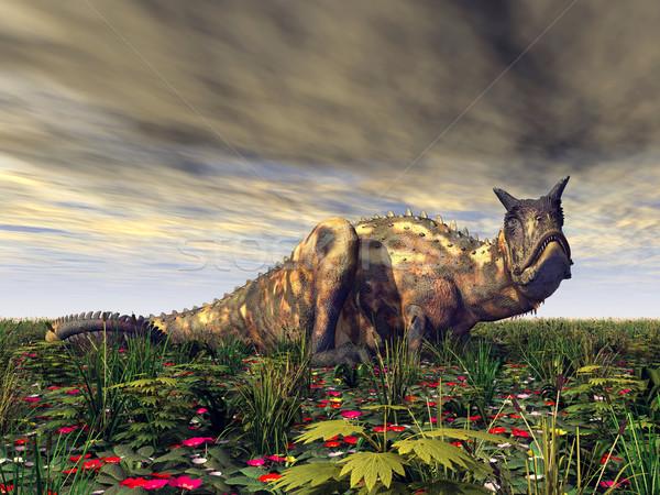 динозавр компьютер генерируется 3d иллюстрации растений 3D Сток-фото © MIRO3D