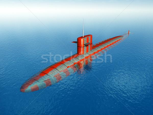 Amerikan nükleer denizaltı bilgisayar oluşturulan 3d illustration Stok fotoğraf © MIRO3D