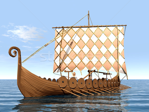 Viking navire ordinateur généré 3d illustration Photo stock © MIRO3D