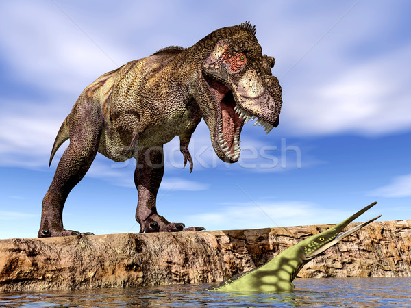 Számítógép generált 3d illusztráció dinoszaurusz tengeri hüllő Stock fotó © MIRO3D