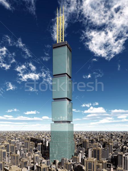超高層ビル ビッグ 市 コンピュータ 生成された 3次元の図 ストックフォト © MIRO3D