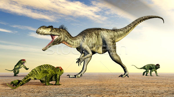 Megalosaurus and Doliosauriscus Stock photo © MIRO3D