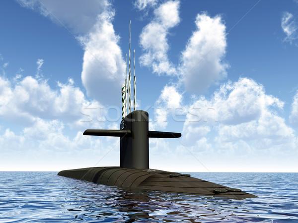 подводная лодка компьютер генерируется 3d иллюстрации морем Сток-фото © MIRO3D