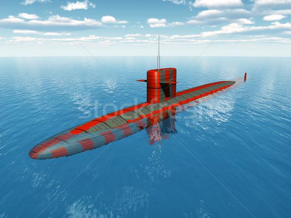 американский ядерной подводная лодка компьютер генерируется 3d иллюстрации Сток-фото © MIRO3D