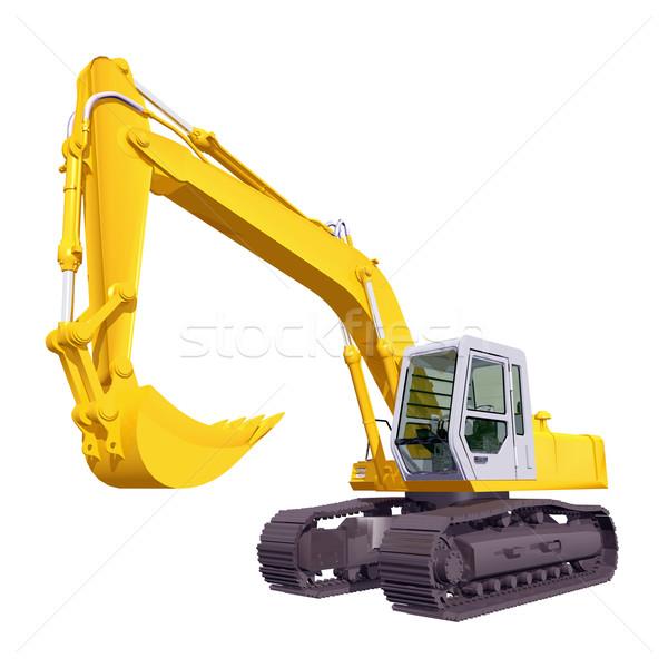 Escavadora computador gerado ilustração 3d isolado branco Foto stock © MIRO3D