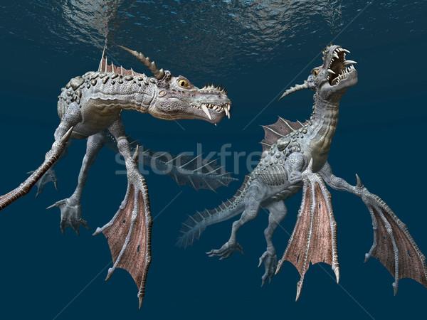 水 コンピュータ 生成された 3次元の図 海 ストックフォト © MIRO3D
