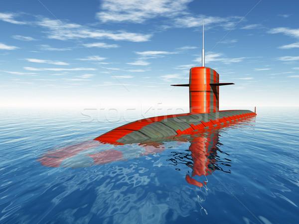 Amerikaanse nucleaire onderzeeër computer gegenereerde 3d illustration Stockfoto © MIRO3D