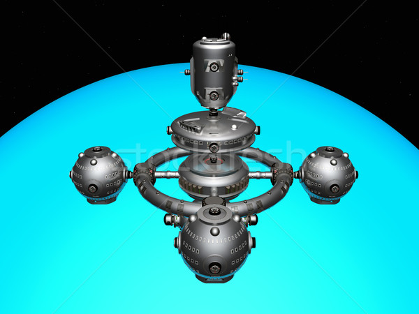 Espaço estação computador gerado ilustração 3d Foto stock © MIRO3D