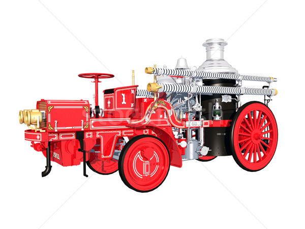 Vintage Fire Engine Stock photo © MIRO3D