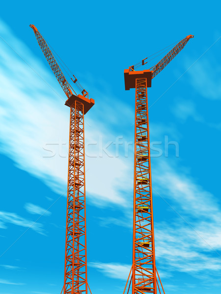 Stock photo: Construction Cranes