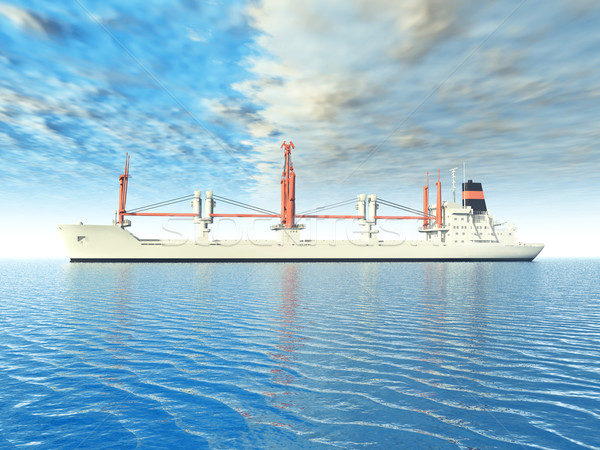 грузовое судно компьютер генерируется 3d иллюстрации Сток-фото © MIRO3D