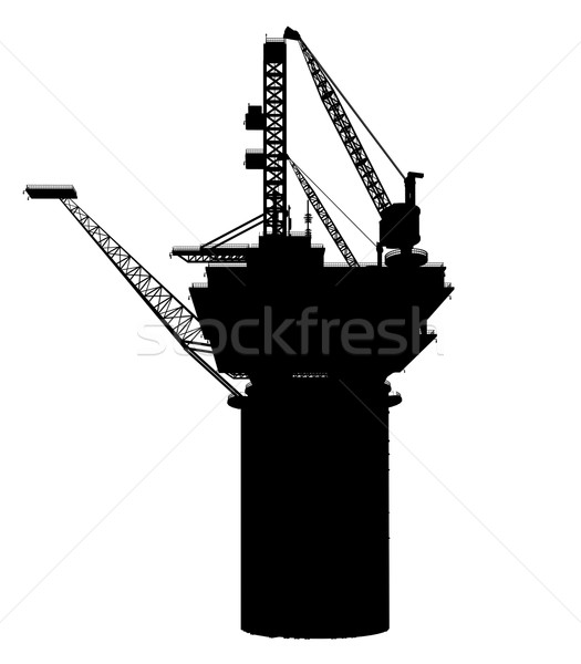 Silhouette of an Oil Platform Stock photo © MIRO3D