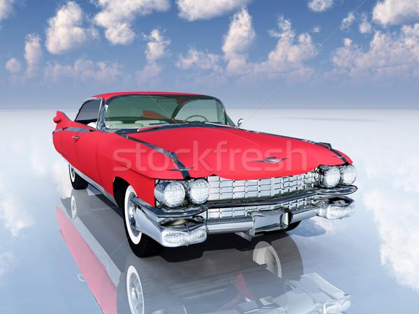 Classico auto computer generato illustrazione 3d retro Foto d'archivio © MIRO3D