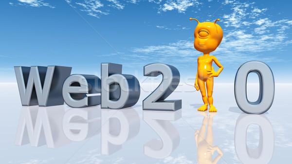 Foto stock: Web · 20 · ordenador · generado · 3d · exóticas