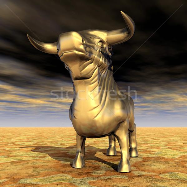 испанский бык компьютер генерируется 3d иллюстрации Сток-фото © MIRO3D