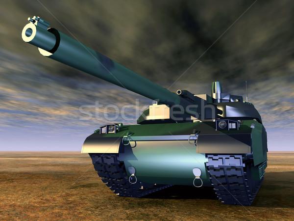 Francia fő- csata tank számítógép generált Stock fotó © MIRO3D