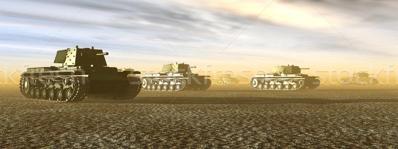 Russian Heavy Tanks of World War II Stock photo © MIRO3D
