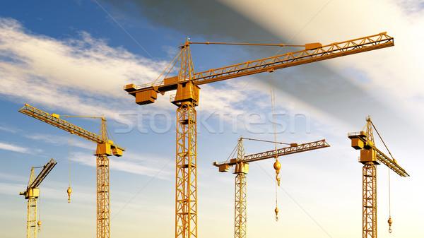 építkezés számítógép generált 3d illusztráció üzlet ipari Stock fotó © MIRO3D