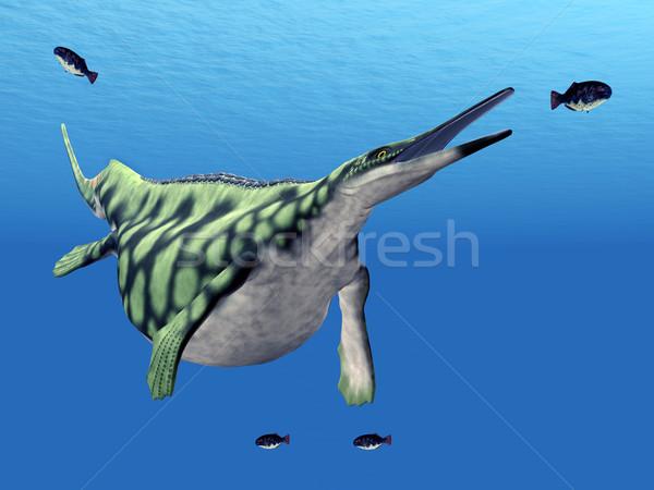 Deniz sürüngen bilgisayar oluşturulan 3d illustration Stok fotoğraf © MIRO3D