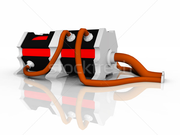 Elektrische generator computer gegenereerde 3d illustration Stockfoto © MIRO3D