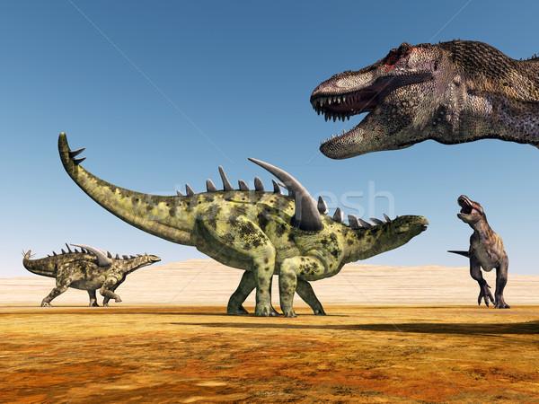 Bilgisayar oluşturulan 3d illustration dinozorlar doğa bilim Stok fotoğraf © MIRO3D