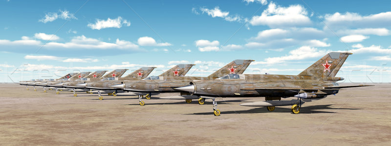 Szovjet repülőgép vadászrepülő számítógép generált 3d illusztráció Stock fotó © MIRO3D