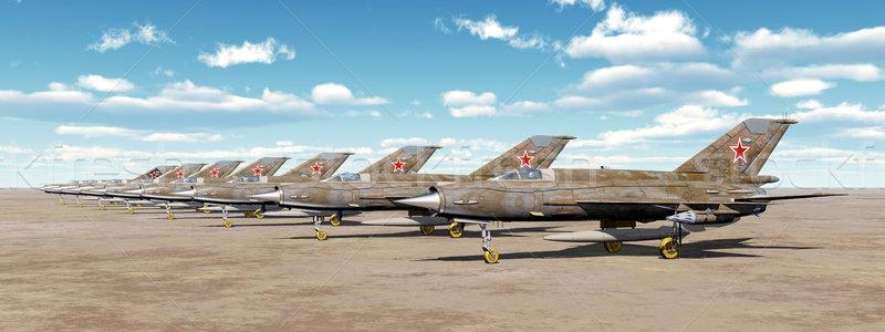 Soviet jet fighter aircrafts Stock photo © MIRO3D