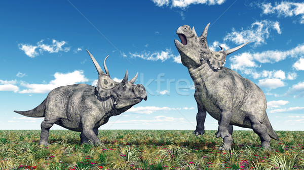 Dinosaur Diabloceratops Stock photo © MIRO3D