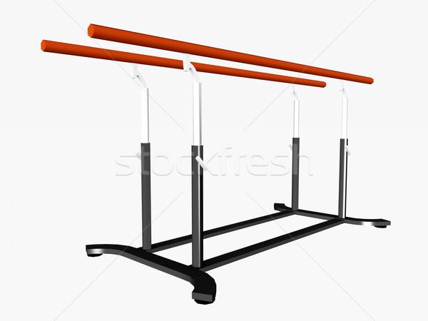 Zdjęcia stock: Równolegle · bary · komputera · wygenerowany · 3d · ilustracji · sportowe