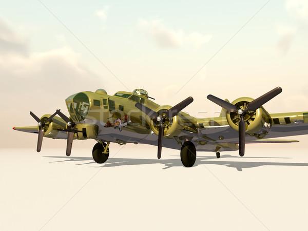 Repülés erőd világ háború számítógép generált Stock fotó © MIRO3D