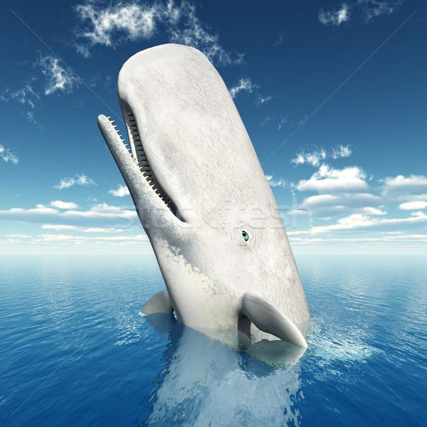 Sperma bálna számítógép generált 3d illusztráció Stock fotó © MIRO3D