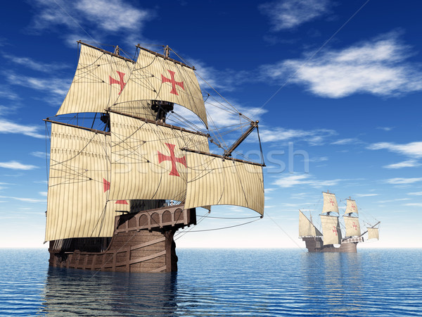 Portuguese Caravels Stock photo © MIRO3D