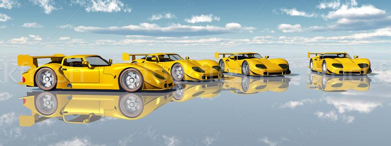 красивой спортивных автомобилей компьютер генерируется 3d иллюстрации Сток-фото © MIRO3D