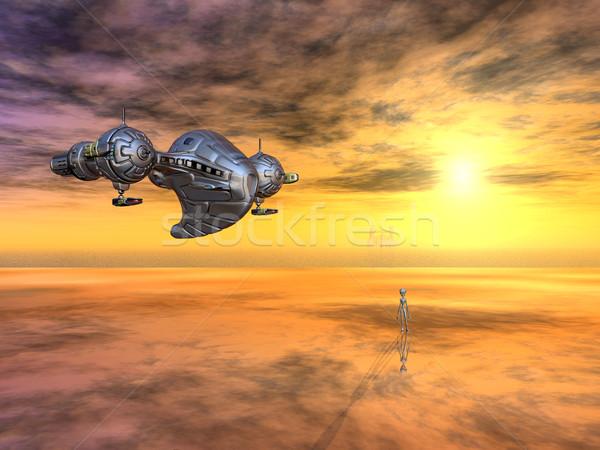űrhajó idegen távoli világ számítógép generált Stock fotó © MIRO3D