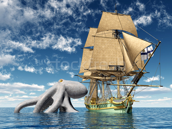 Encounter on the High Seas Stock photo © MIRO3D
