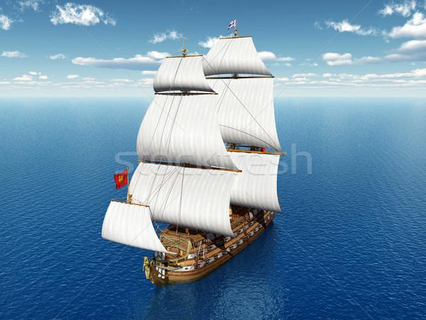 French Warship Stock photo © MIRO3D