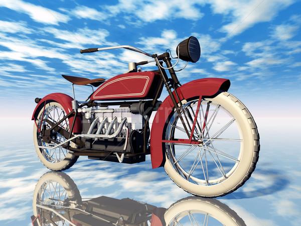 Clássico motocicleta computador gerado ilustração 3d americano Foto stock © MIRO3D
