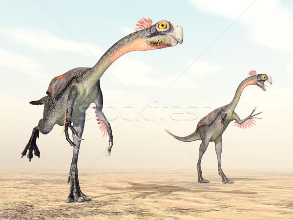 Dinozor bilgisayar oluşturulan 3d illustration çöl bilim Stok fotoğraf © MIRO3D