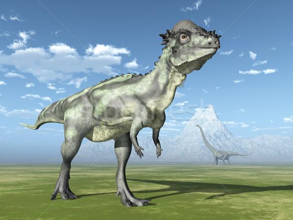 コンピュータ 生成された 3次元の図 恐竜 動物 恐竜 ストックフォト © MIRO3D