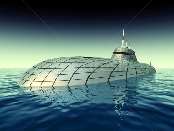 футуристический подводная лодка компьютер генерируется 3d иллюстрации Сток-фото © MIRO3D