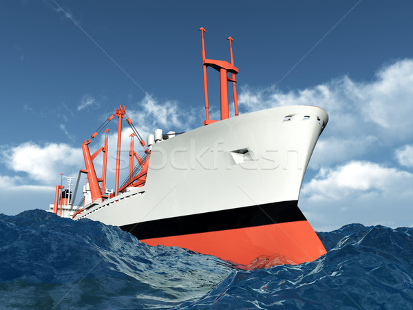 Cargo Ship Stock photo © MIRO3D