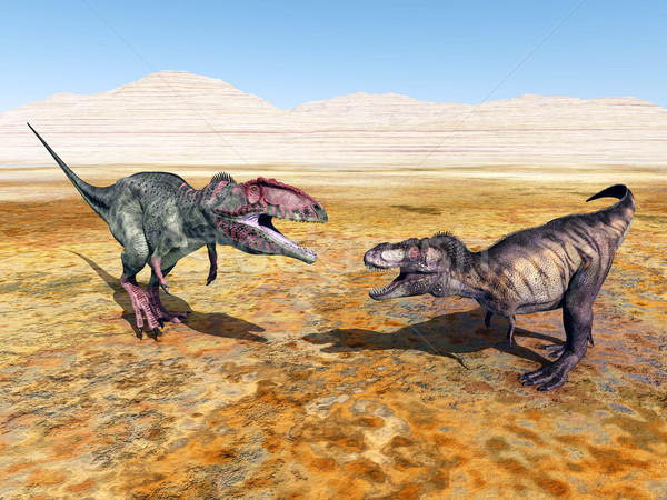 Giganotosaurus and Tyrannosaurus Rex Stock photo © MIRO3D