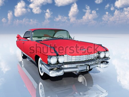 Photo stock: Automobile · ordinateur · généré · 3d · illustration · technologie