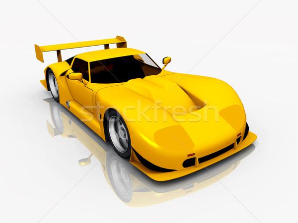 美しい スポーツカー コンピュータ 生成された 3次元の図 黄色 ストックフォト © MIRO3D
