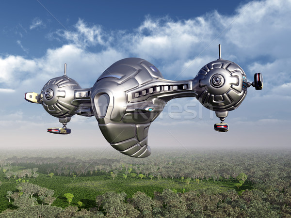 Landscape with Spaceship Stock photo © MIRO3D